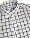 Johnson FARAH 60s Textured Windowpane Check Shirt