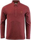 farah merriweather l/s pique polo red marl