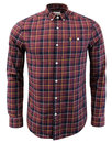 Oldman FARAH 60s Twill Check Button Down Shirt