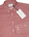 Steen FARAH Mod Button Down Oxford Shirt CURRANT