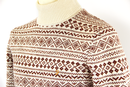Hereford FARAH VINTAGE Retro Fair Isle Roll Neck R
