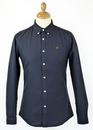 FARAH VINTAGE OXFORD SHIRT RETRO 60s MOD NAVY