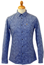 The Oxley FARAH VINTAGE Retro 60s Yarn Dyed Shirt