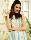 FEVER DESIGNS Retro 50s Pastel Stripe Prom Dress