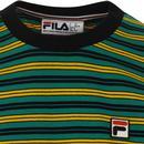 Hugh FILA VINTAGE 70s Retro Multi Stripe Tee (P/B)