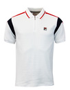 fila polo top white retro sports
