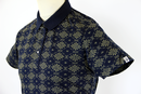 Hornet FLY53 Retro Indie Skullflower Mod Polo Top