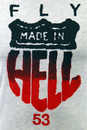 Made in Hell FLY53 Retro Indie Road Sign T-Shirt