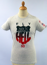 FLY53 FLY 53 MADE IN HELL RETRO INDIE ROUTE 66 TEE