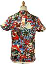 Wolfe FLY53 Retro 60s Psychedelic Graphic T-shirt