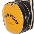 FRED PERRY Classic Retro Barrel Bag - Black/Yellow