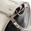 FRED PERRY Contrast Colour Barrel Bag - Snow White