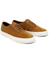 fred perry barson suede trainers ginger