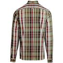 FRED PERRY Mod Bold Check Button Down Shirt (Port)