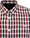 FRED PERRY Mod Gingham Check Button Down Shirt R