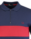 FRED PERRY Chest Panel Zip Placket Pique Polo