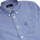 FRED PERRY Mod Button Down Gingham Check Shirt OB