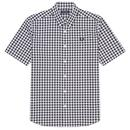 Fred Perry Men's Mod Short Sleeve Two Colour Gingham Shirt in White