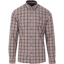 FRED PERRY Men's Grey Thompson Tartan Check Shirt