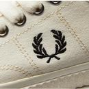Hughes Low FRED PERRY Men's Retro Canvas Trainers