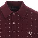 FRED PERRY Men's Retro Jacquard Knit Polo Shirt M
