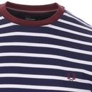 FRED PERRY Men's Long Sleeve Breton Stripe Top