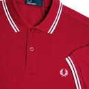 FRED PERRY M3600 Mod Twin Tipped Polo Shirt SIREN