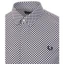 FRED PERRY Retro 60's Mod Bold Polka Dot Shirt