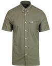 fred perry short sleeve oxford shirt nettle