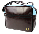 fred perry shoulder bag chocolate brown