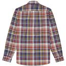 FRED PERRY Retro Button Down Tartan Check Shirt N