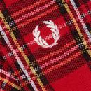 FRED PERRY Mens Royal Stewart Tartan Check Socks