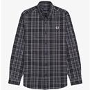 FRED PERRY Retro Cotton Twill Tonal Check Shirt
