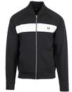fred perry tricot bomber track jacket black