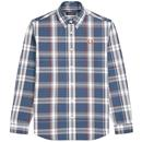 Fred Perry twill check shirt midnight blue