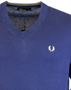 FRED PERRY Men's Classic Cotton V-Neck Sweater FB