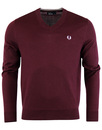 FRED PERRY Men's Classic Cotton V-Neck Sweater M