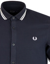 FRED PERRY Twin Tipped Waffle Texture S/S Shirt N