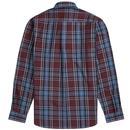 FRED PERRY Retro Mod Winter Tartan Check Shirt M