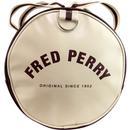 FRED PERRY Retro Mod Classic Barrel Bag PORT/ECRU