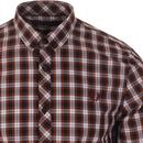 FRED PERRY 60's Retro Mod S/S Tartan Check Shirt