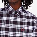 FRED PERRY Mod Tartan BD Oxford Shirt (White)