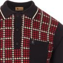 Canine GABICCI VINTAGE Dogtooth Check Knitted Polo