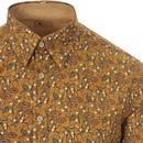 Costner GABICCI VINTAGE 60s Mod Floral Print Shirt