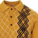 Bogarde GABICCI VINTAGE Mod Argyle Knit Polo (D)