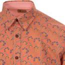 Honey GABICCI VINTAGE 60s Mod Floral Shirt (Flare)