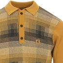 Matrix GABICCI VINTAGE POW Check Mod Knit Polo Top