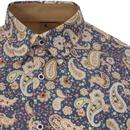 Kraft GABICCI VINTAGE Psychedelic Paisley Shirt