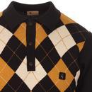Putter GABICCI VINTAGE Mod Argyle Knitted Polo B