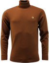 gabicci vintage ricardo roll neck jumper tan